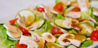 Salata de ciuperci si dovlecel