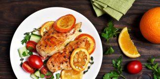 Carne de pui cu sos de portocale