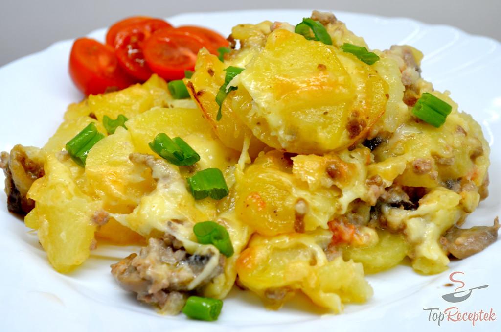 caserola carne tocata cartofi