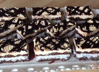 prajitura cocos glazura ciocolata